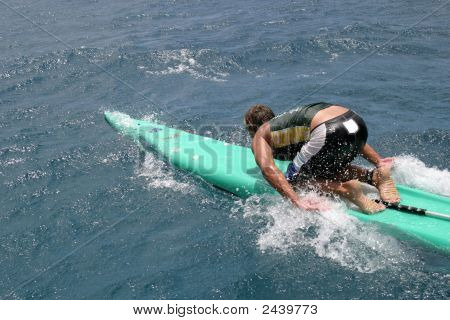 Paddleboarder In Hawaii