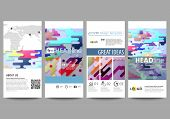 Flyers Set, Modern Banners. Business Templates. Cover Design Template, Easy Editable Abstract Vector poster