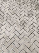 Cementing Texture Of Rectangular Cement Blocks Embedded In A Zigzag Pattern. poster