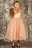 Kids Face Skin Care. Portrait Girl Face In Your Advertisnent. Prom Dress On Pretty Small Girl. Prom, poster