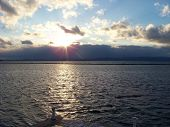 image of burlington  - Sunset over Lake Champlain in Burlington VT - JPG