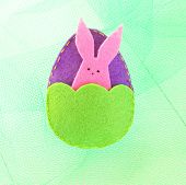 Making Felt Easter Egg And Bunny. How To Make Handmade Toy. Easter Craft Idea. Easy Easter Crafts. S poster