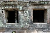 picture of asura  - Windows of mandapa at Angkor Wat Cambodia - JPG