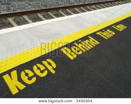 Danger Sign At Train Station