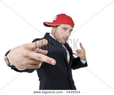 Stylish Man On Isolated Background