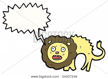 cartoon cowardly lion