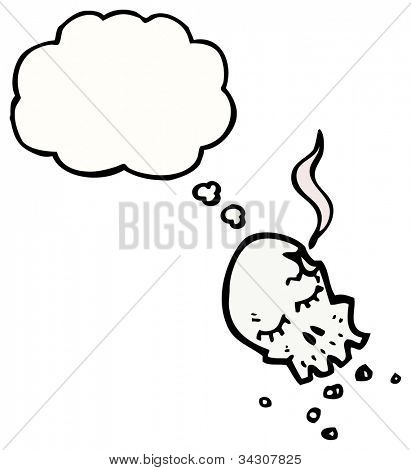 gunshot skull cartoon