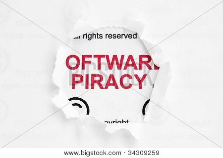 Web Piracy Concept