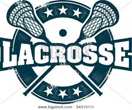 Estilo vintage Lacrosse deporte sello