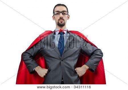 Superman aislado sobre fondo blanco
