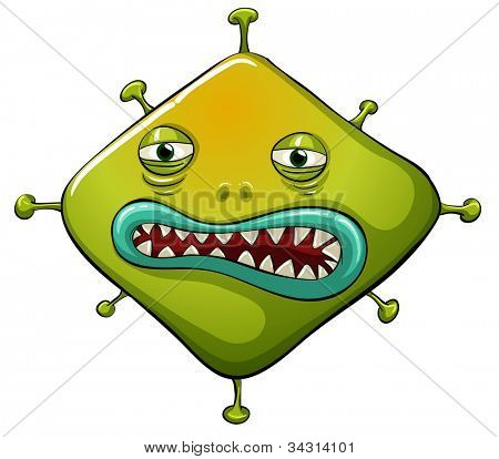 Illustration of an ugly virus