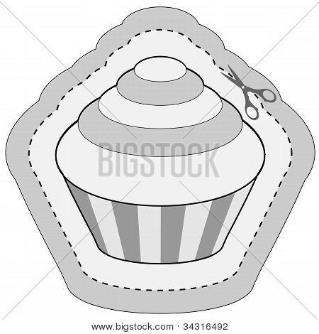 coupon sticker with cupcake
