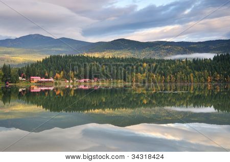 Dutch Lake On An Autumn Morning, Clearwater, Bc