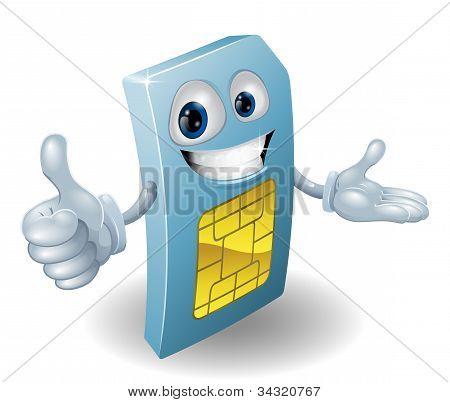 Cartoon Mobile Phone Sim Card Man