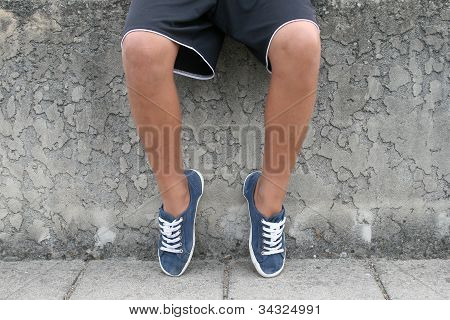 Young boys legs