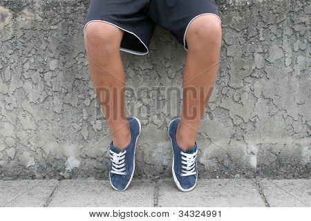 Young boys legs