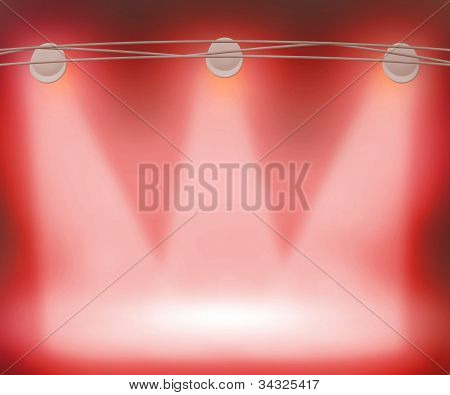 Red Spotlights Background