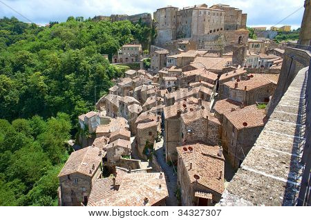 Italian city rooftops