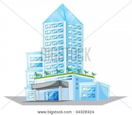 Abbildung eines Hauses auf weißem Hintergrund
