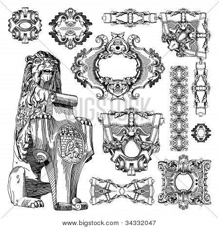 Ornamental Design Element Of Lviv Historical Building, Ukraine