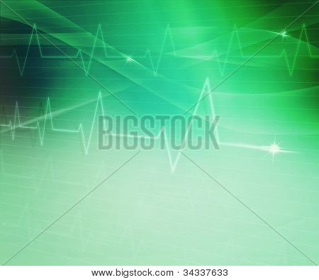 Green Abstract Medical Background