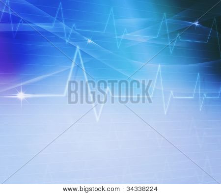 Blue Abstract Medical Background