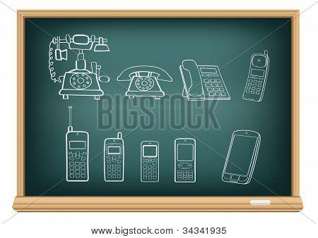 Placa telefone evolução