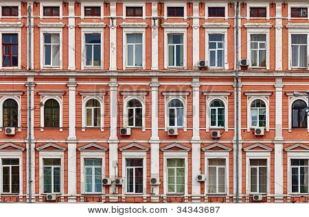 Facade Of A House. Old Architecture.