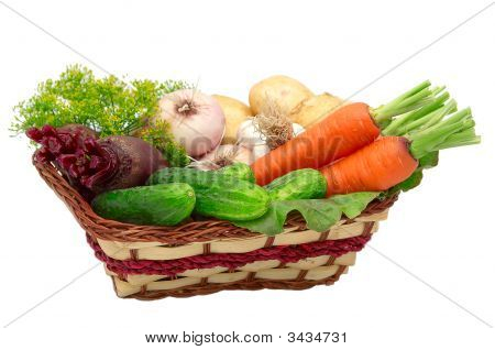 Vegetable Isolated On A Whiteground.