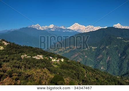 Kanchenjunga Range From Gangtok