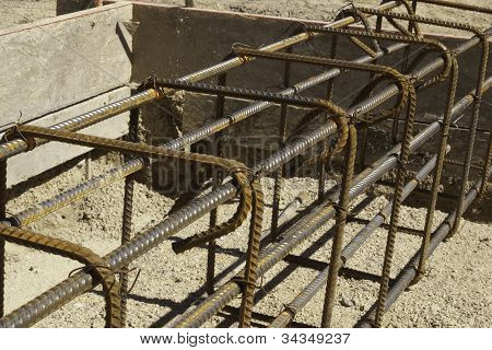 Rebar And Forms Tied For Concrete