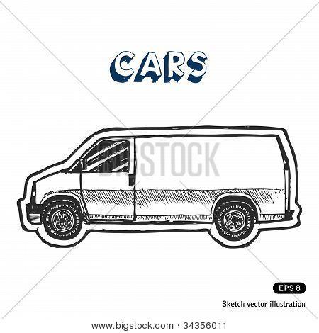 Minibus for cargo transportation