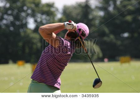 Lady Golf Swing Action