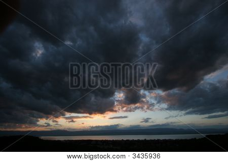 Stormy Weather On The Leman Lake, Geneva