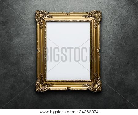 Gold Frame At The Wall