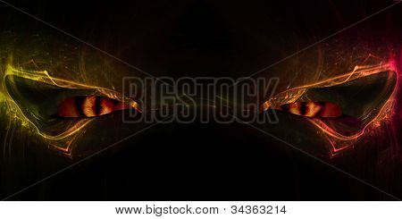 Olhos de demônio