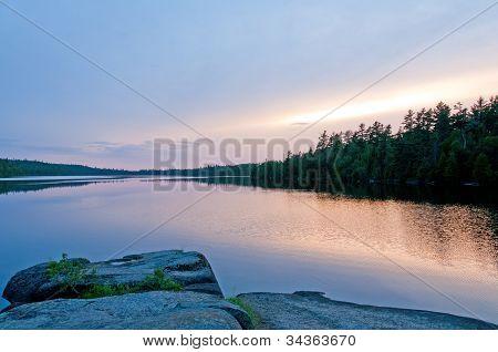 Twilight In Canoe Country