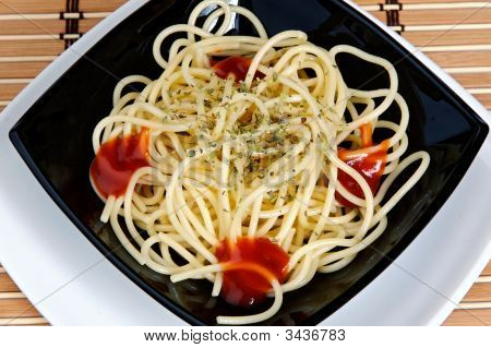 Freshly Cooked Plate Of Spaghetti