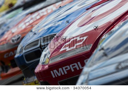 SONOMA, CA - JUN 24, 2012:  The NASCAR Sprint Cup Series take to the track for the Toyota Save Mart 350 at the Raceway at Sonoma in Sonoma, CA on June 24, 2012.