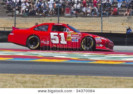SONOMA, CA - JUN 24, 2012:  Kurt Busch (51) brings his car through the turns during the Toyota Save Mart 350 at the Raceway at Sonoma in Sonoma, CA on June 24, 2012.