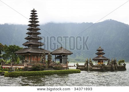 Temple Volcano Carter Lake Bali