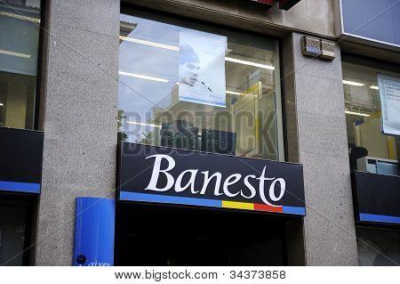 Banesto Sits On Display Outside