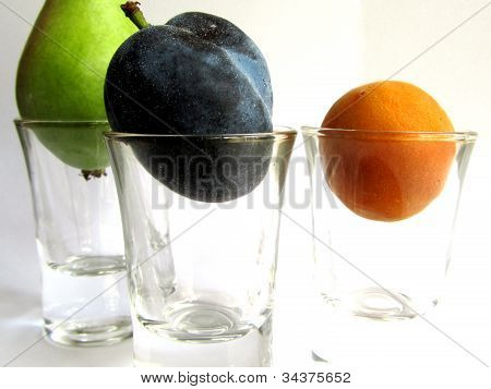 Fruits in glasses
