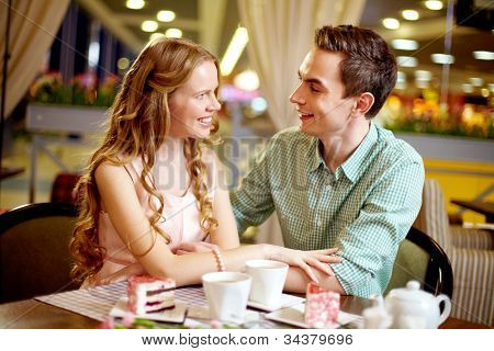Young people in love enjoying their happy time together
