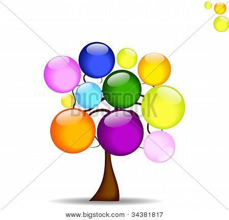 Abstract background with tree