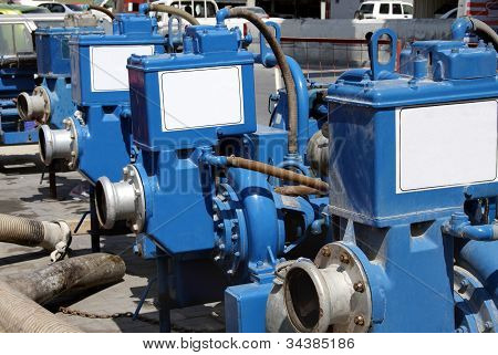 Series of heavy duty water pump for sewage cleaning and maintenance