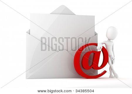 3d man online mail concept
