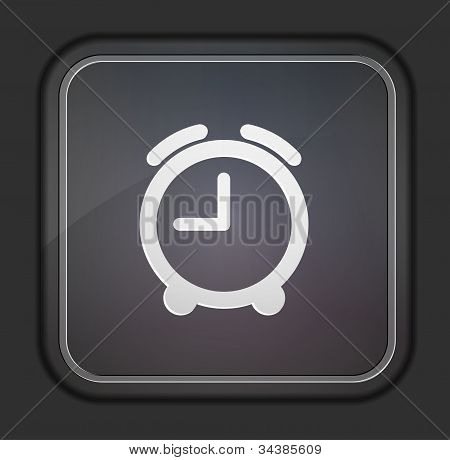 Vector Version. Clock Icon. Eps 10 Illustration. Easy To Edit