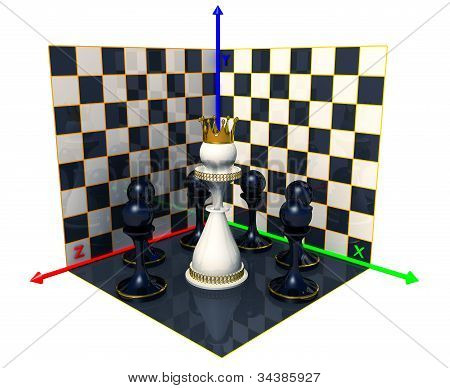 Axes Of The Coordinates, Chess Queen