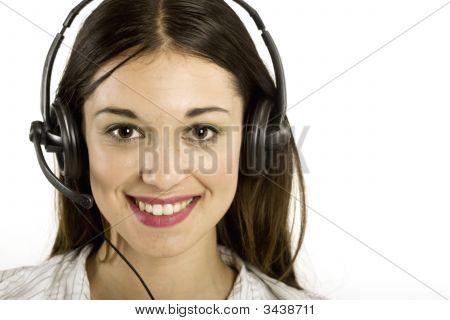 Junges Mädchen mit Headset